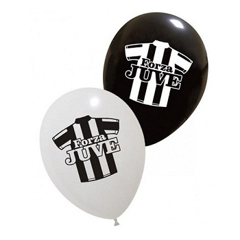Palloncino in Lattice Rotondo 30 cm. Stampa Juve Assortiti