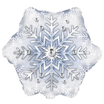 Palloncino Mylar 45 cm. Prism Pattern Snowflake