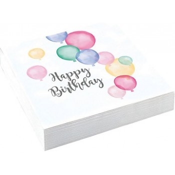 Tovaglioli 33x33 cm Happy Birthday 20 pz