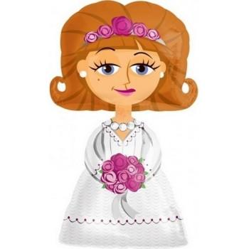 Palloncino Mylar Super Shape 60 cm. Minnie Mouse Shape Pink