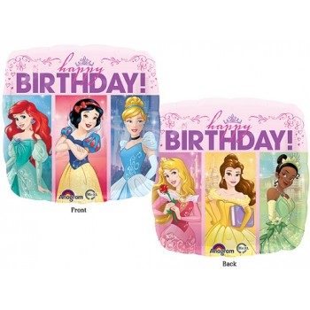 Palloncino Mylar 45 cm. Multi-Princess Dream Big Happy Birthday