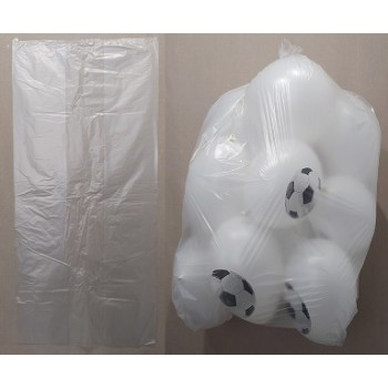 Bustone / Sacco - HDPE trasparente per palloncini ( 60 + 20 + 20 x 130 cm. ) Contiene fino a 15 palloncini da 30 cm.
