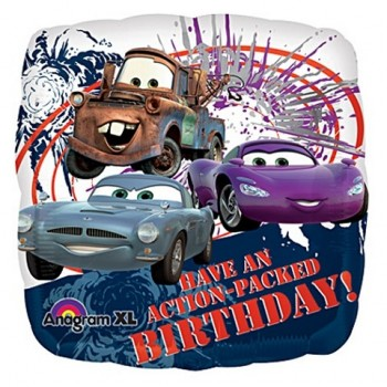 Palloncino Mylar 45 cm. Disney Cars Action-Birthday