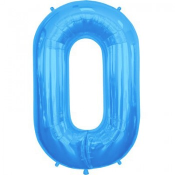 Palloncino Mylar Lettera O Maxi - 86 cm. Blu