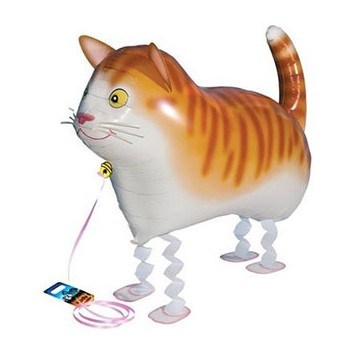 Palloncino Mylar Pet Walker 60 cm. Gatto