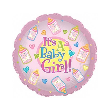 Palloncino Mylar Mini Shape 22 cm. Baby Girl Bottles