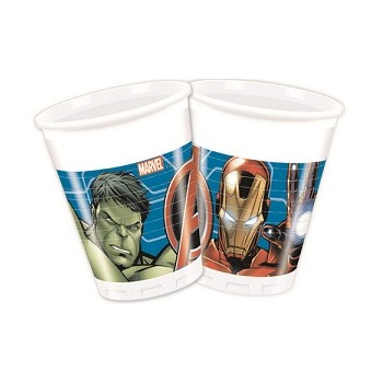 Bicchieri plastica 200 ml Avengers Mighty - 8 pz