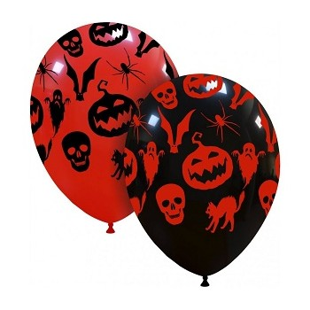 Palloncino in Lattice Rotondo 30 cm. Stampa Hallooween Horror
