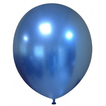 Palloncino in Lattice Rotondo 30 cm. Chrome Blue