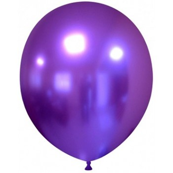 Palloncino in Lattice Rotondo 30 cm. Chrome Purple