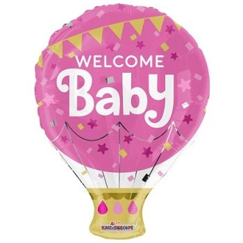 Palloncino Mylar 45 cm. Welcome Baby Pink