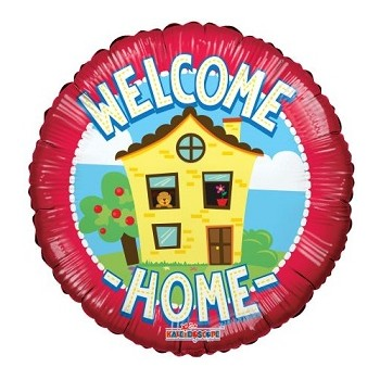 Palloncino Mylar 45 cm. Welcome Home House - un lato