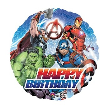 Palloncino Mylar 45 cm. Avengers Happy Birthday