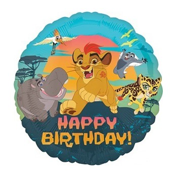 Palloncino Mylar 45 cm. Lion Guard Happy Birthday